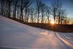 Winter (TranceMist) Tags: trees winter sunset snow canada flickr shadows quebec slope select publish saintsauveur