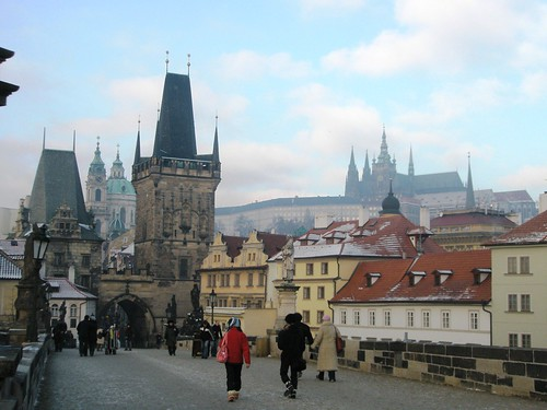 charles bridge, castle.