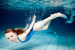 Ungbarnasund (Eythor) Tags: blue water girl iceland underwater bubbles diving mermaid swiming