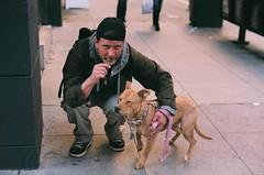 man's best friend (lizlouie) Tags: sanfrancisco portrait film delete10 delete9 delete5 delete2 delete6 delete7 candid bodylanguage delete8 delete3 delete delete4 save mansbestfriend randompeople srt101 minoltasrt