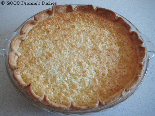 Coconut Pie: Baked