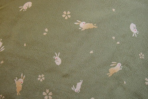 Green bunny fabric