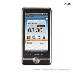 華碩最後一款單品牌智慧型手機 P835 現身,搭載 3.5 吋大型 WVGA 觸控螢幕,首度採用高通(Qualcomm)的 3G 平台。