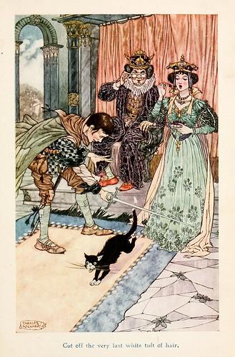 011Charles Folkard- Jolly Calle & other Swedish fairy tales-1912-El muchacho que no podía decir una mentira