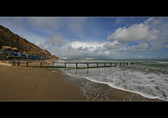 Sandown panorama (s0ulsurfing) Tags: ocean wood light sea wild sky panorama cliff cloud sunlight seascape beach nature water beauty weather clouds composition square landscape bay coast march wooden sand waves skies natural wind pano wide shoreline fluffy wave wideangle panoramic cliffs diagonal wash coastal filter shore foam cumulus vista coastline letterbox humilis grad groyne beachhuts 2009 squared nube handstitched shanklin meteorology nephology 10mm wavelet sigma1020 nd4 sandownbay s0ulsurfing cumulushumilis coastuk vertorama eastwight welcomeuk