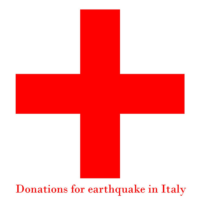 Donations for earthquacke in Italy - Donazioni per il terremoto in Italia by giuliomeinardi