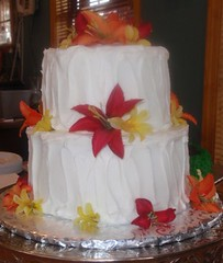 Sallie & Glen's Wedding Cake
