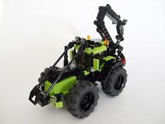 TreeHugger 8000 (Aleksander Stein) Tags: tractor town lego forestry farm logging treehugger 8000
