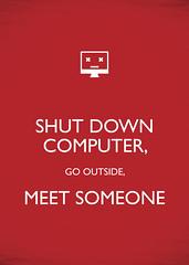 Shut down (Florin Hatmanu) Tags: texture poster typography design graphic parody carryon keepcalm