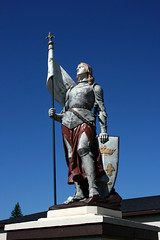 St. Joan of Arc (*Jeff*) Tags: church statue wisconsin catholic banner superior armor shield fleurdelis joanofarc