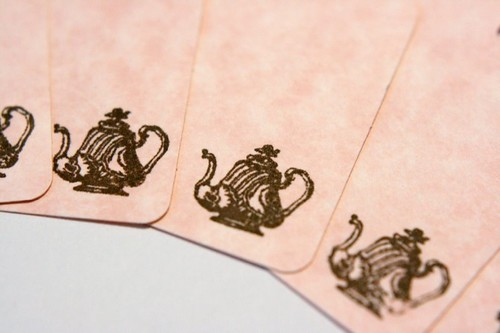 Teapot gift tags