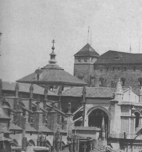 Cimborrio de la Catedral de Toledo antes de 1889. Foto de Casiano Alguacil