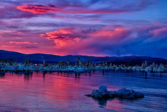 Mono Lake Tufa Sunset (Bill Wight CA) Tags: california sunset lake water clouds reflections bravo monolake tufa highsierra theunforgettablepictures vosplusbellesphotos billwight