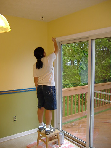 Painting the Sliding Door Frame