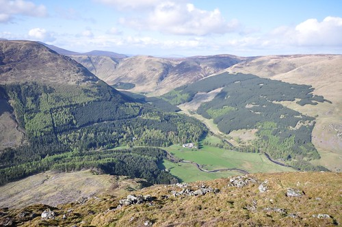 Glen Doll from the top of the Scorrie