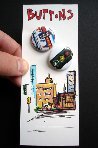 Scribbles Buttons with a Hand-drawn Art Card