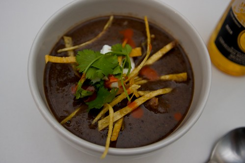black bean soup!