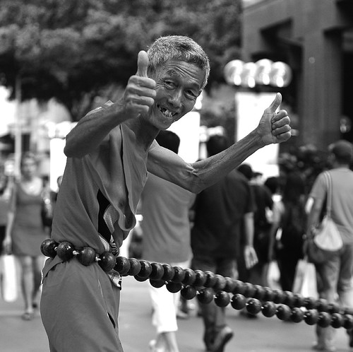 Street Entertainer in Orchard
