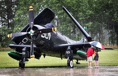 dad n lad (buzzhayes) Tags: beach rain museum virginia aviation morerain pungo warbirdsoverthebeach ad4skyraider