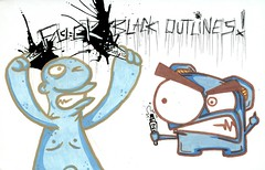 Fuck Black Outlines (Question Josh? - SB/DSK) Tags: streetart black sticker stickerart paint fuck stickers josh collab question marker outlines collaboration ticky questionjosh