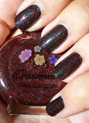 nail Gallery of nail art with Chinoiserie Black Magic over Borgehese Notte Black nail art designs gallery