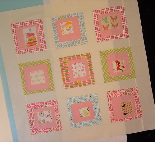 Girly Baby Quilt top