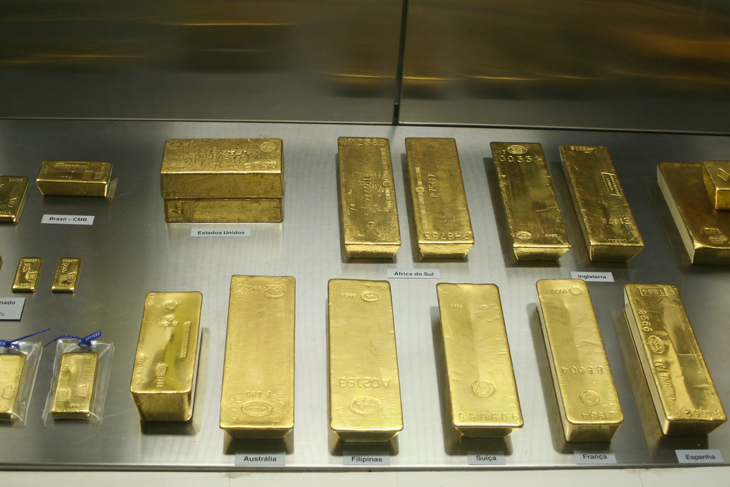 Gold Ingots of central bank of Brazil