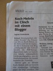 WAZ-Bericht über Silvana Koch-Mehrin