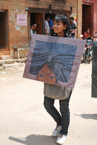 Walking on the Street, 2009, Nepal