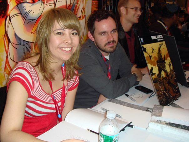 Fiona Staples at the New York Comic Con