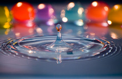 Water Drop... Colors (-Randy-) Tags: reflection colors nikon waterdrop watertower refraction ripples liquid fallingwater 55200mm flickrsbest nikond40 randywaterdropshots