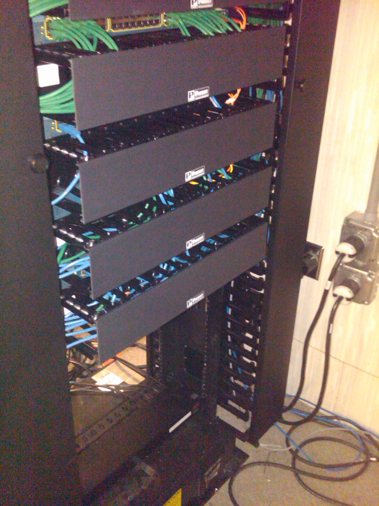 Network Routing Rack In Electrical Closet Flickr Photo Sharing 1