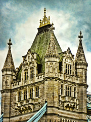 The Tower Bridge of London (Samantha Decker) Tags: uk greatbritain england london photoshop towerbridge canon geotagged unitedkingdom ps powershot adobe pointandshoot postprocess channels cs4 geo:lon=0076269 topazadjust sx10is samanthadecker geo:lat=51507504