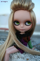 Fashionable girl (erregiro) Tags: nose carved outfit eyes doll handmade makeup lips blonde belle makeover blythe custom mah drakes saran adg rizza reroot ashtons misstakes erregiro