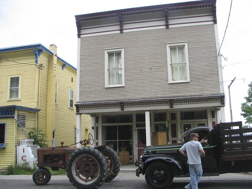 antique vehicles outside 10 Champlain