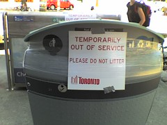 Toronto Strike - Garbage out of service