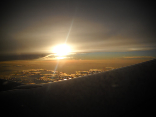 Sunset from the sky... beauty you only see from a plane.