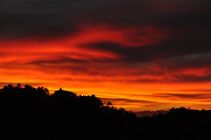 Extreme Sunset in Costa Rica (Armando Maynez) Tags: voyage travel vacation sky clouds landscape fire traveling armando 18200 vacaciones d90 myfacebook maynez