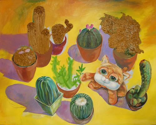 Gwen & Cactus Progress 03
