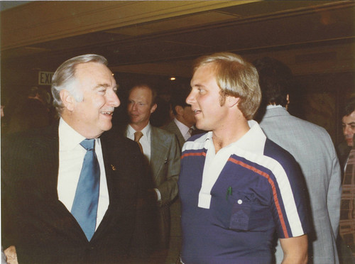 George Lang and Walter Cronkite