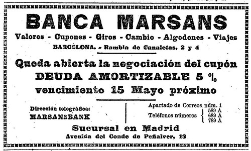 BANCA MARSANS Sucursal en Madrid