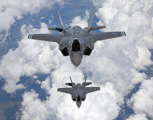 Two F-35A Fighters Fly To Edwards AFB