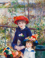 Like Mother Like Daughter (Thomas Hawk) Tags: chicago museum painting illinois loop artinstituteofchicago artinstitute cookcounty renoir chicagoland chicagoartinstitute pierreaugusterenoir artinstitutechicago twosisters ontheterrace
