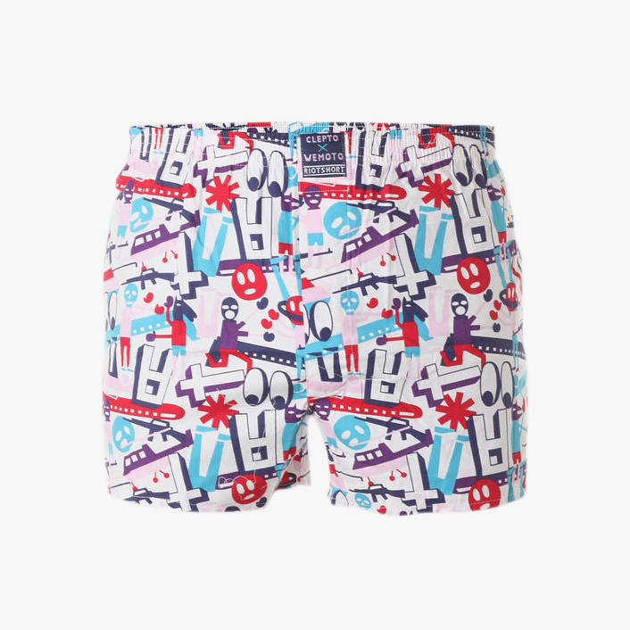 riot boxershort for cleptomanicx and wemoto by stefan golz