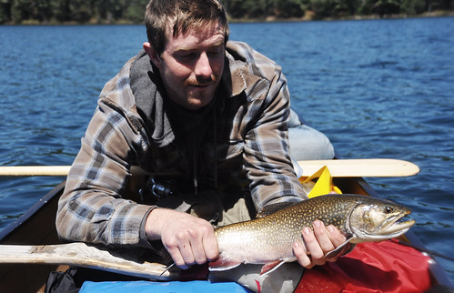 Fraser and a Large Brook Trout