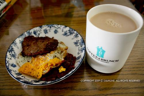 [20090123]紅茶牛奶和漢堡肉蛋