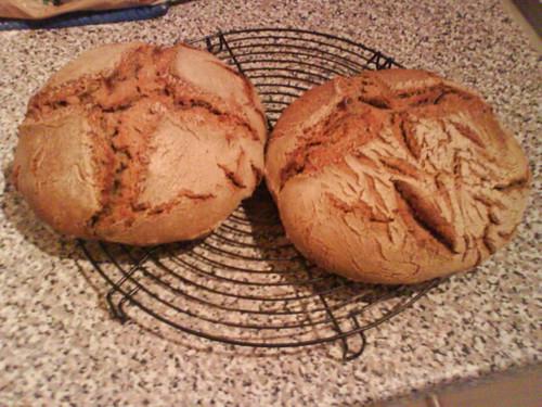 Sauerteigbrot Ende Januar, frisch aus dem Ofen geholt