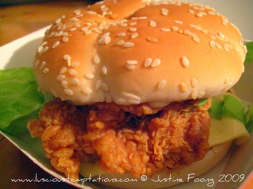 KFC Zinger Burger - KL, Malaysia
