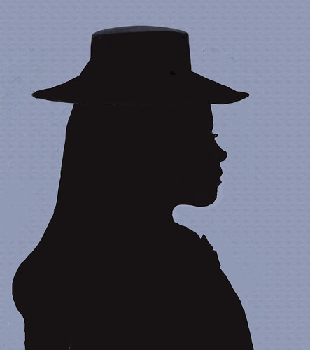 silhouette-with-hat