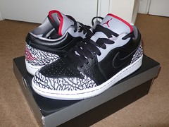 Jordan 1 Phat Low.  Gorgous. (gizmo_eats_tonight) Tags: 1 low cement nike jordan phat nikeair jordan1 nikeairjordan elephantprint jordanphatlow